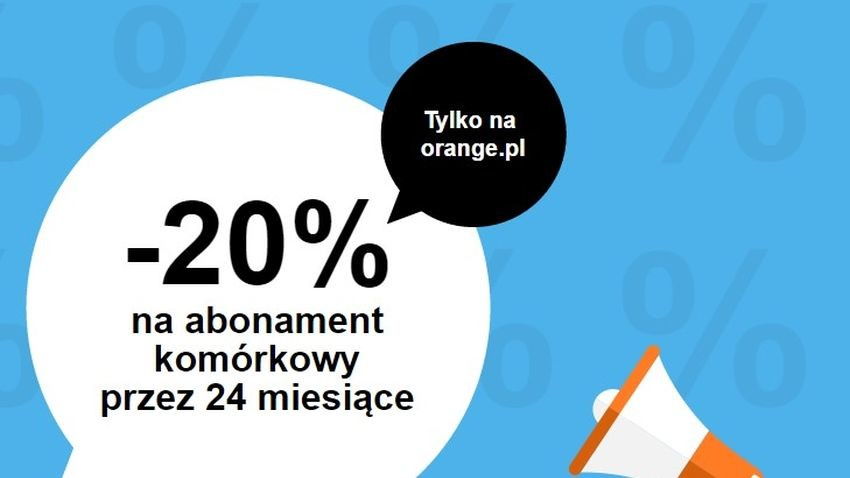 Promocja Orange: 20% rabatu na abonament