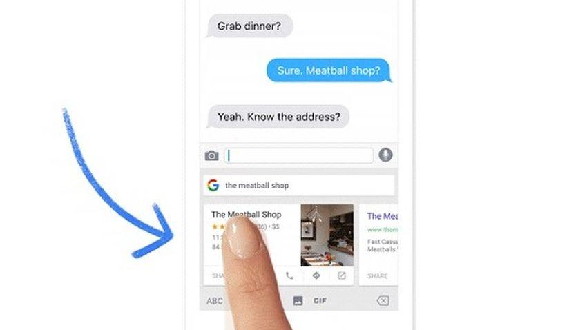 Gboard - klawiatura z wyszukiwarką dla iOS