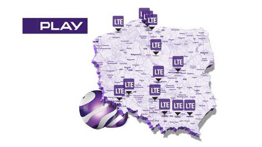 Aktualny zasięg sieci LTE w Play