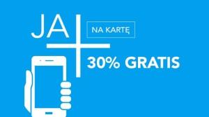 Promocja Plus: 30% gratis za doładowanie bankowe