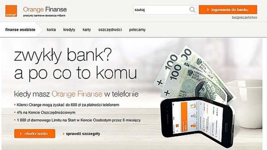 Orange idzie do banku