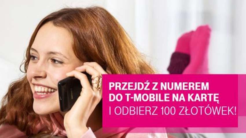 Promocja T-Mobile: 100 złotówek za przeniesienie numeru