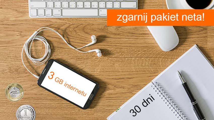 Promocja Orange: 3 GB za 3 zł