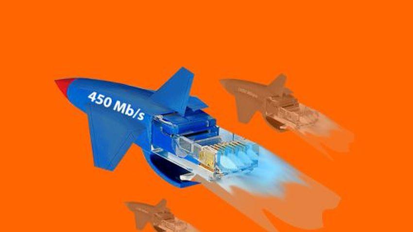 Orange rozpędził Internet do 450 Mb/s