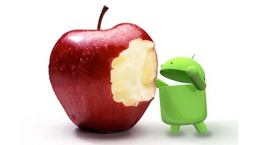 iOS dogania Androida