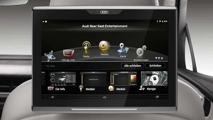 Nowe Audi Q7 zintegruje tablet dla pasażerów z systemem samochodowym
