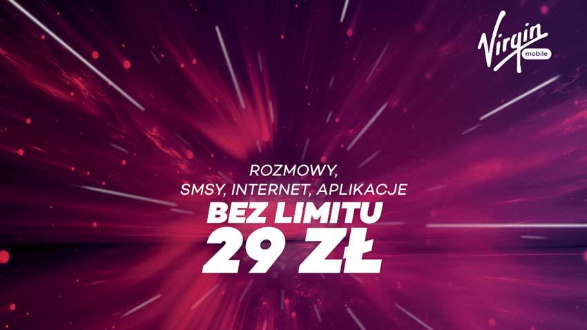 Virgin Mobile z nową ofertą no limit do wszystkich sieci za 29 zł
