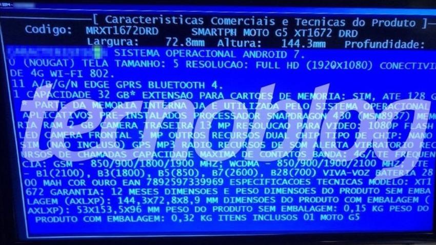 Photo of Serwis brazylijskiego sprzedawcy ujawnia dane techniczne Moto G5