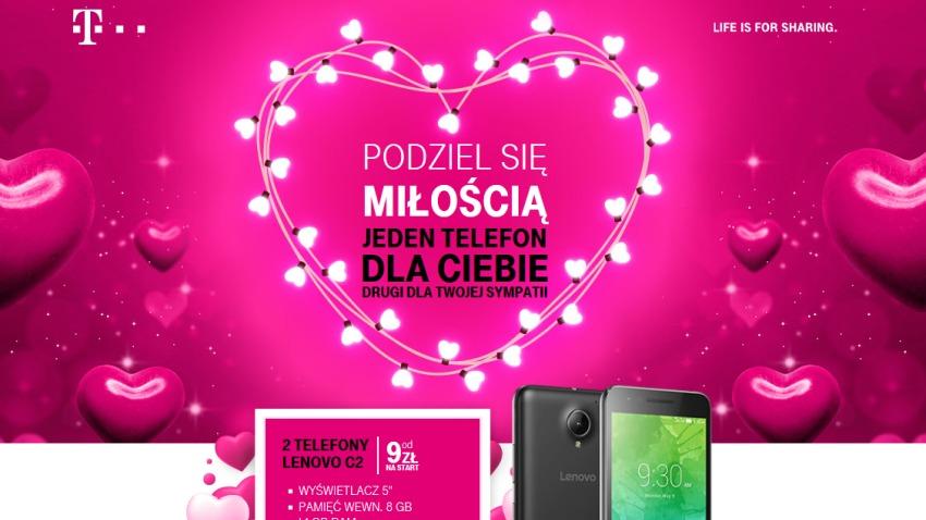 Photo of T-Mobile podwaja na walentynki: para telefonów dla pary