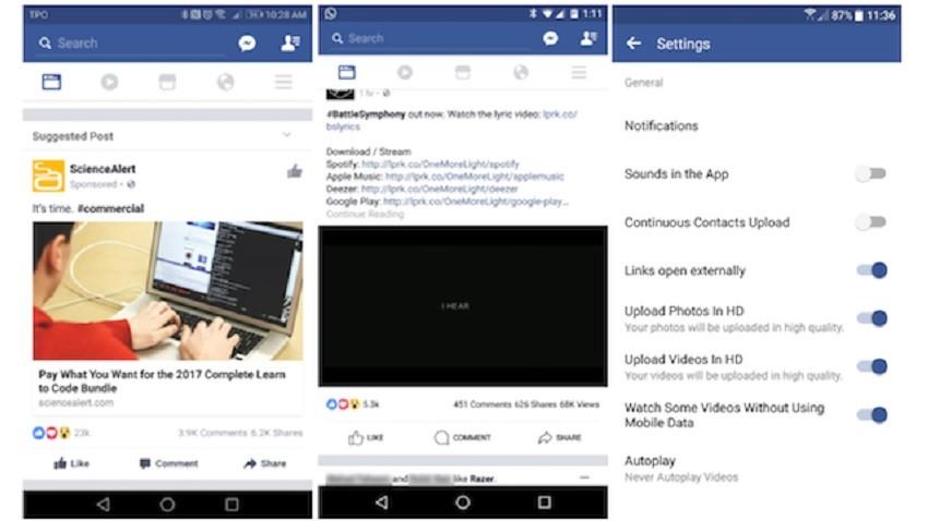 facebook-android-test-1-850x478-850x478 Nadchodzą zmiany na Facebooku. Będziemy mogli oglądać wideo w trybie offline