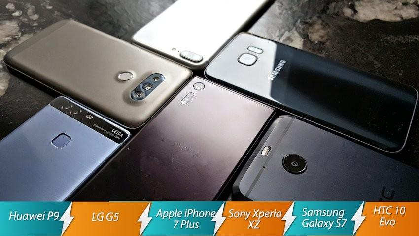 Starcie the best of 2016 S7 Edge vs Xperia XZ vs Huawei P9 vs iPhone 7 Plus vs HTC 10 evo vs LG G5