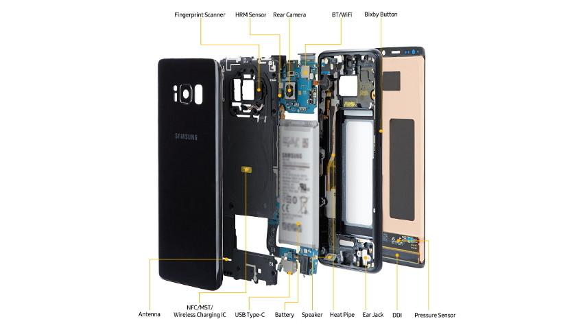 teardown-1-850x478 Samsung rozbiera Galaxy S8, przedstawiając wszystkie wewnętrzne komponenty flagowca