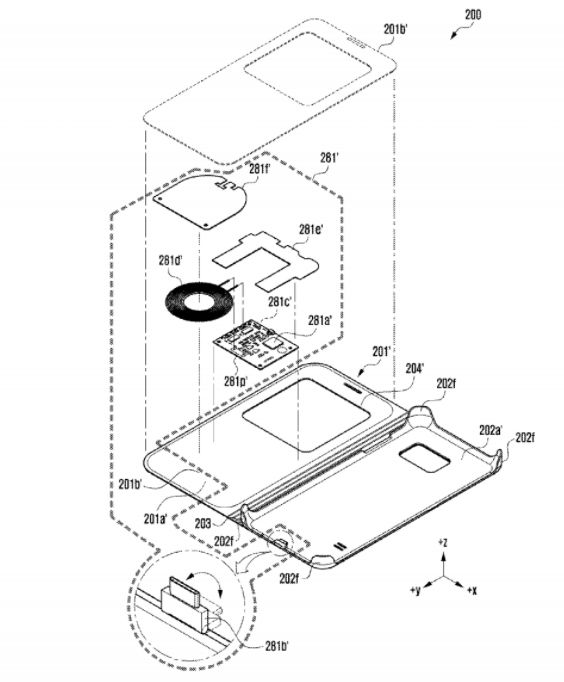 pokrowiec-1 Samsung opatentował ładowanie smartwatcha pokrowcem od telefonu