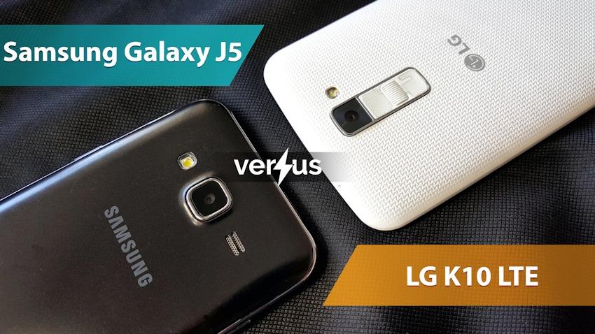 Samsung Galaxy J5 vs LG K10