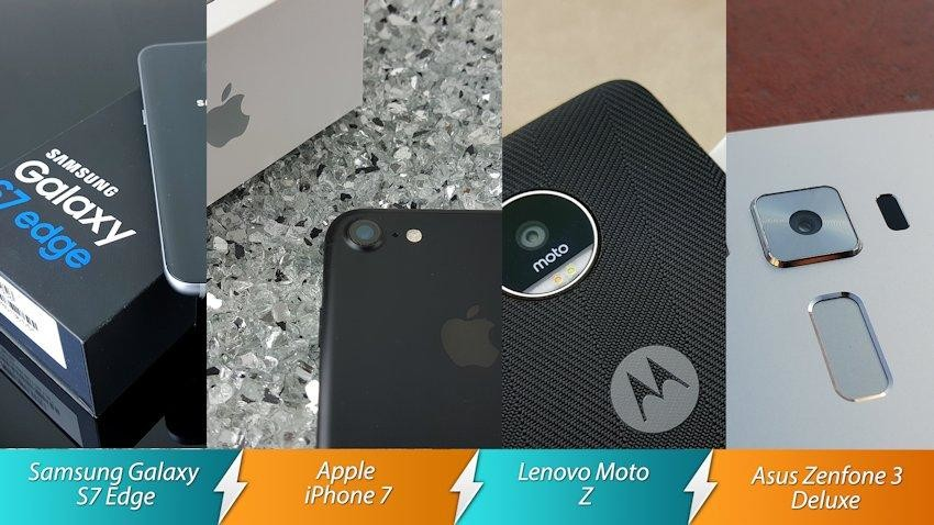 Starcie Topowi producenci – Samsung Galaxy S7 Edge, iPhone 7, Asus Zenfone 3 Deluxe, Lenovo Moto Z