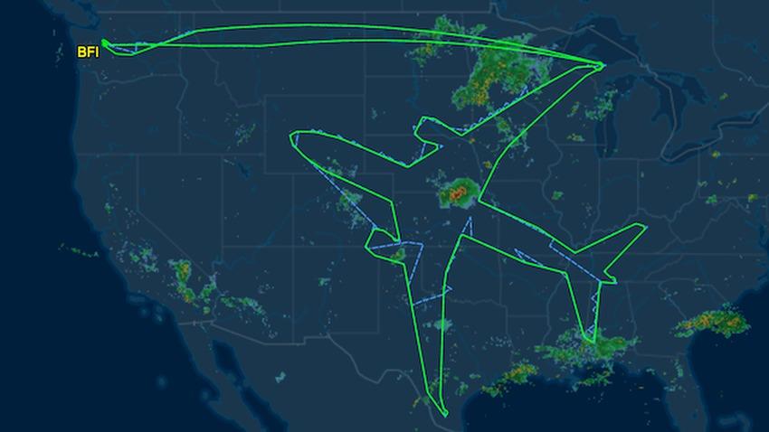 dreamliner samolot trasa