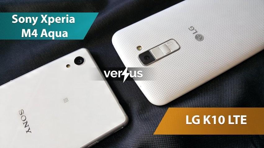Sony Xperia M4 Aqua vs LG K10 LTE