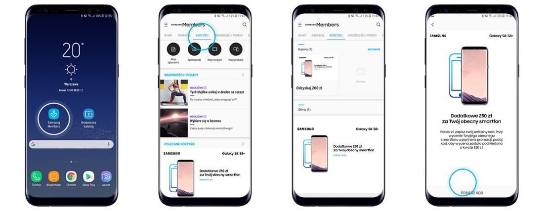 samsung-members Samsung: Kup Galaxy S8/S8+ i odzyskaj pieniądze za starego smartfona