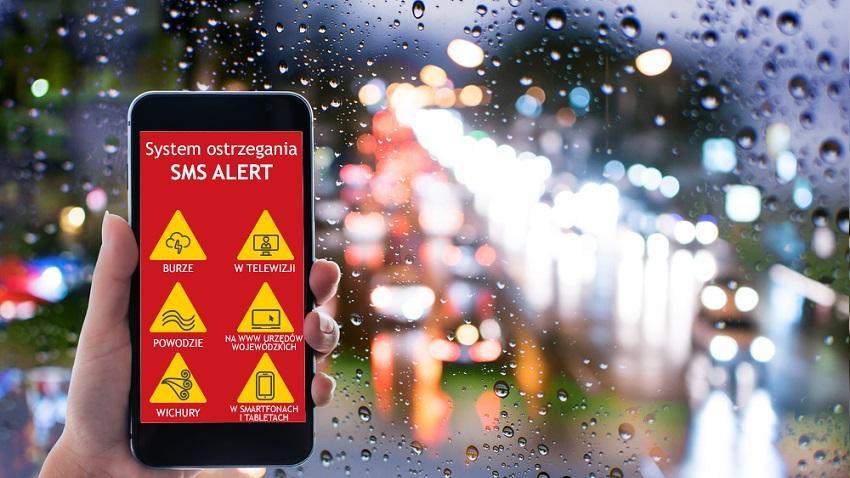 Photo of Wiadomość SMS ostrzeże o zagrożeniach pogodowych