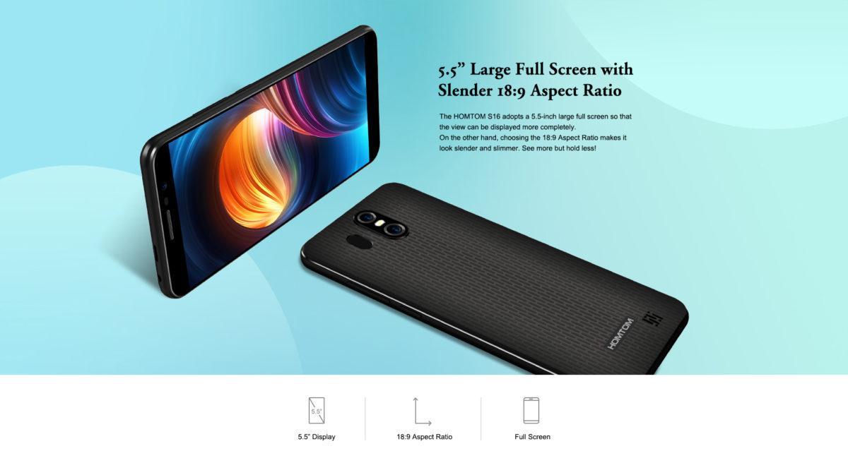 s16 HOMTOM przedstawił nowego smartfona. Model S16 będzie posiadać ekran 18:9