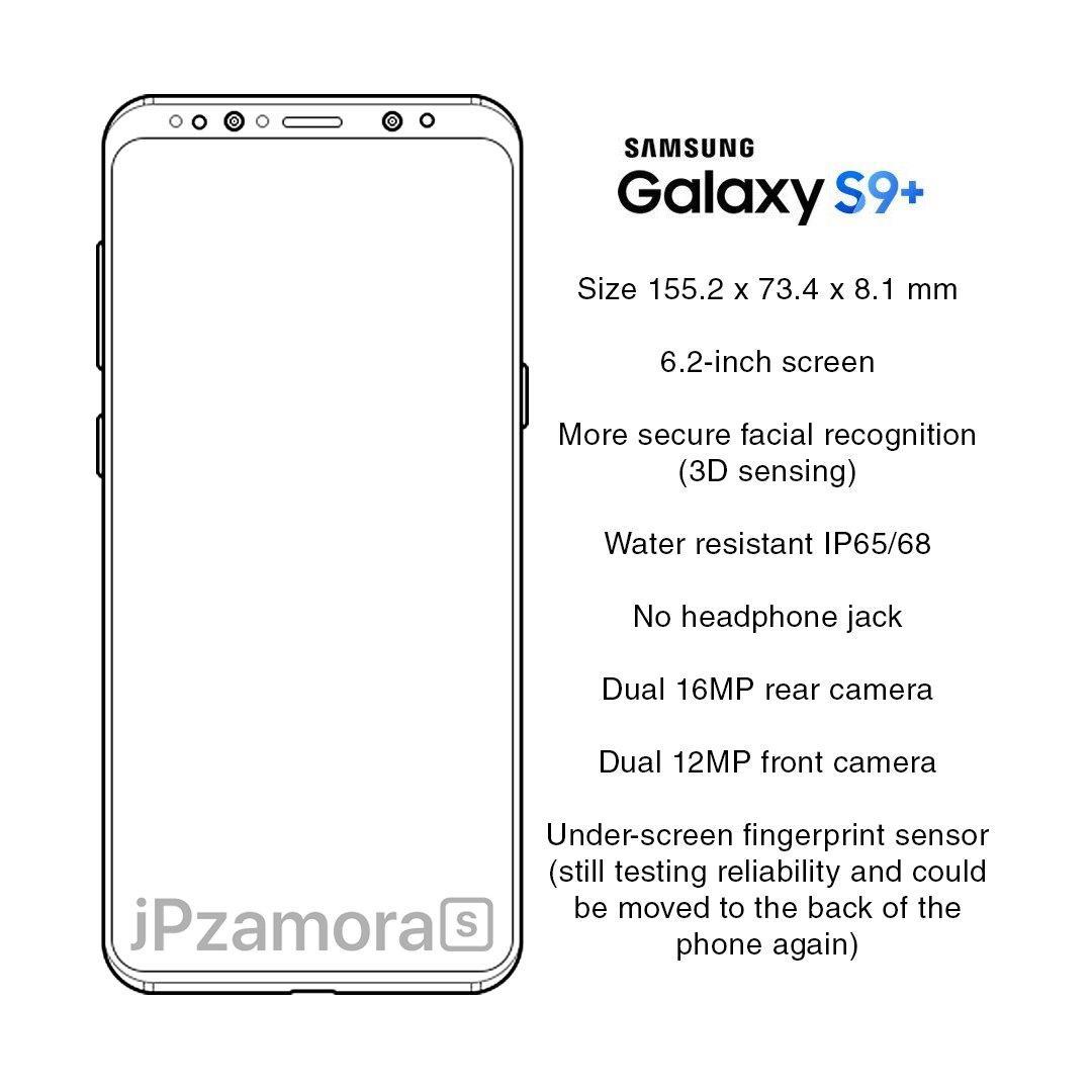 s9-specki-wyciek-1 Samsung Galaxy S9: wyciekły specyfikacje