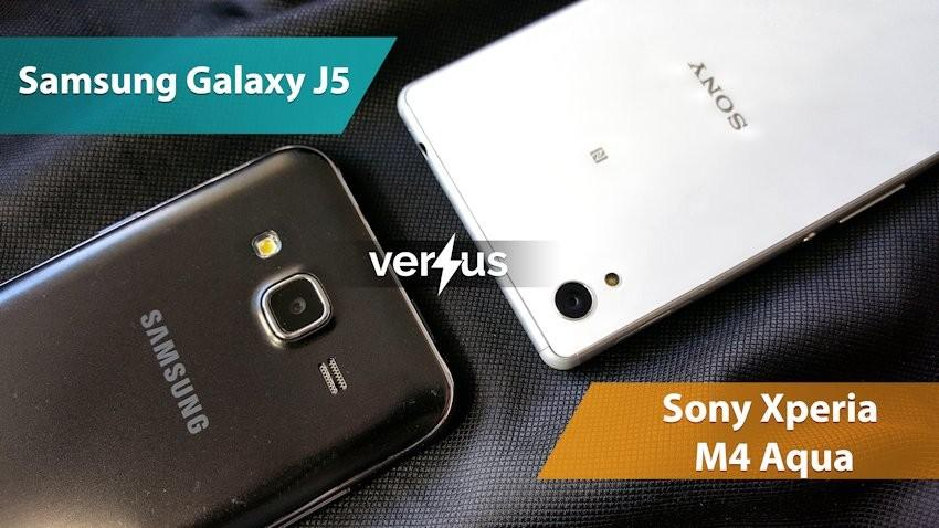 Samsung Galaxy J5 vs Sony Xperia M4 Aqua