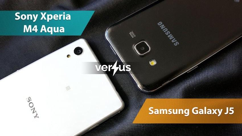 Sony Xperia M4 Aqua vs Samsung Galaxy J5