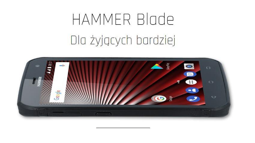 Hammer_Blade_front_black-1 MyPhone wprowadza do sprzedaży wytrzymałego smartfona Hammer Blade
