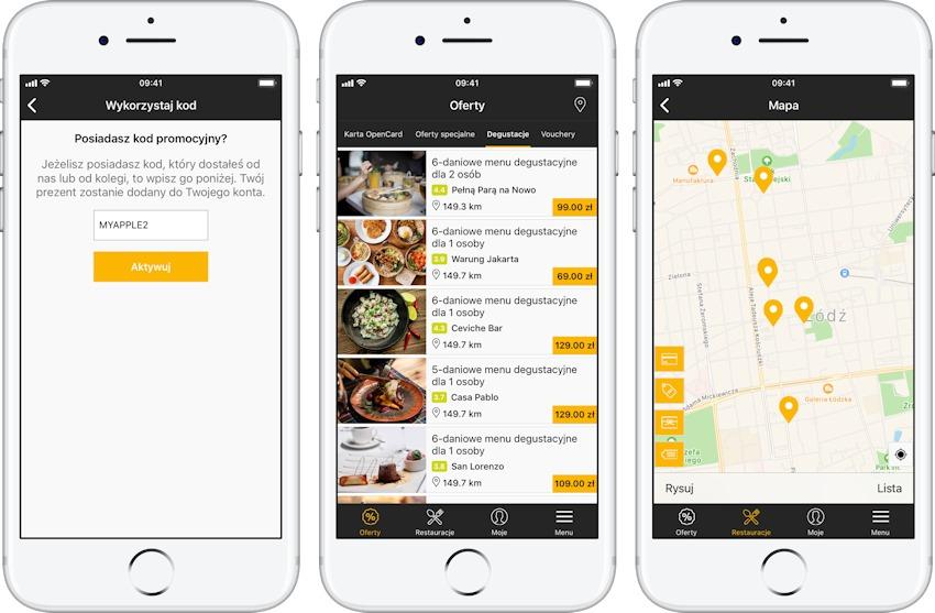 opencard-aplikacja-znizki-do-restauracji-1-1 Tanie jedzenie na mieście? Pobierz aplikację mobilną karty lojalnościowej OpenCard