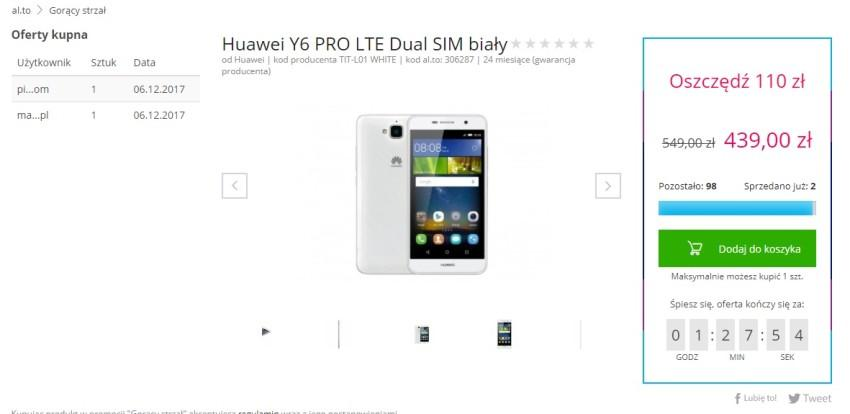 gorący-strzał-850x414 Huawei Y6 Pro LTE taniej o 110 złotych