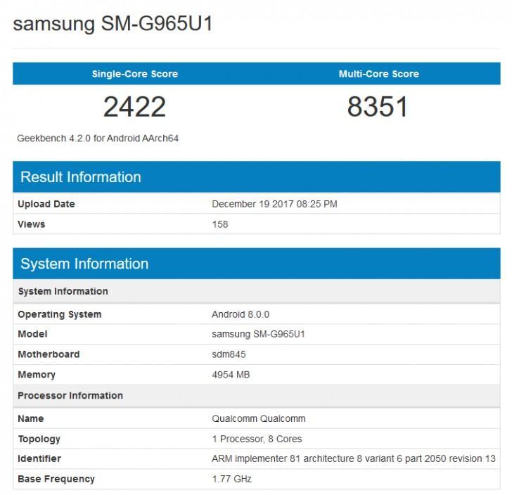 s9-geekbench Samsung Galaxy S9+ w benchmarkach: lepiej niż S8+, gorzej niż iPhone X