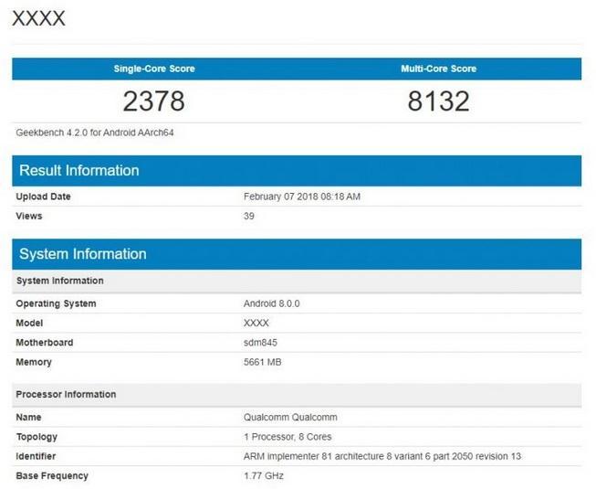 s9geekbench Samsung Galaxy S9 w benchmarku GeekBench