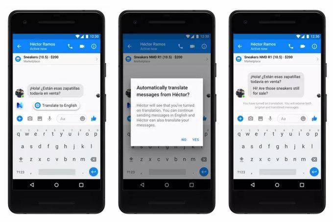 messenger-translate Messenger otrzyma funkcję automatycznego tłumaczenia wiadomości
