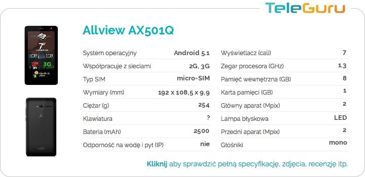 specyfikacja Allview AX501Q