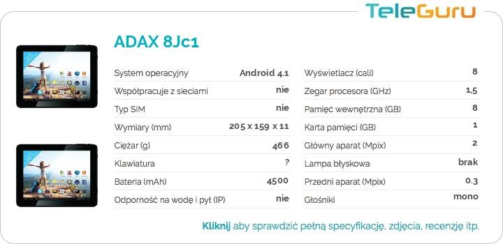 specyfikacja ADAX 8Jc1