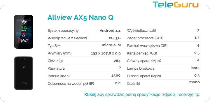 specyfikacja Allview AX5 Nano Q