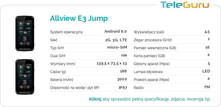 specyfikacja Allview E3 Jump