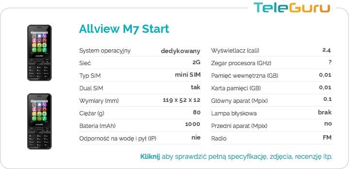 specyfikacja Allview M7 Start