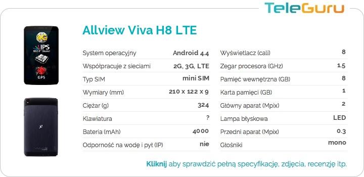 specyfikacja Allview Viva H8 LTE