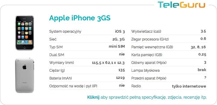 specyfikacja Apple iPhone 3GS
