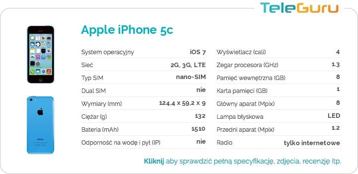 specyfikacja Apple iPhone 5c