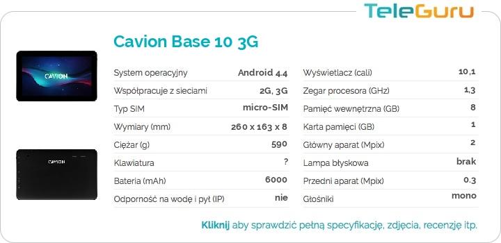 specyfikacja Cavion Base 10 3G