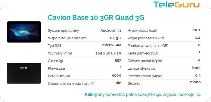 specyfikacja Cavion Base 10 3GR Quad 3G