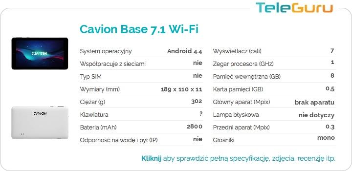 specyfikacja Cavion Base 7.1 Wi-Fi