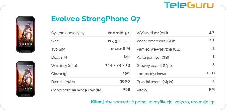 specyfikacja Evolveo StrongPhone Q7