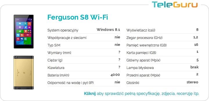 specyfikacja Ferguson S8 Wi-Fi