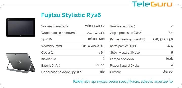 specyfikacja Fujitsu Stylistic R726