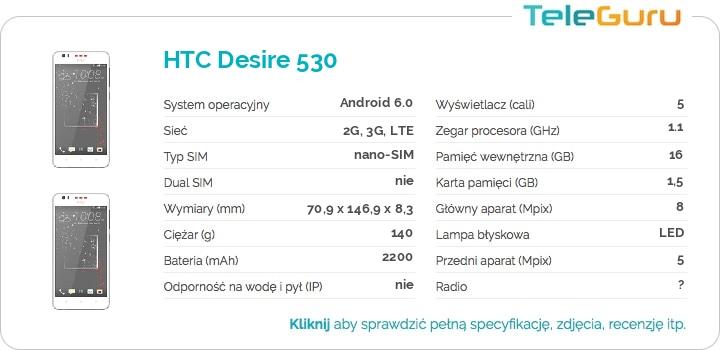 specyfikacja HTC Desire 530