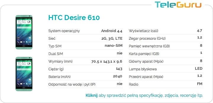 specyfikacja HTC Desire 610