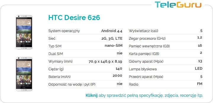 specyfikacja HTC Desire 626